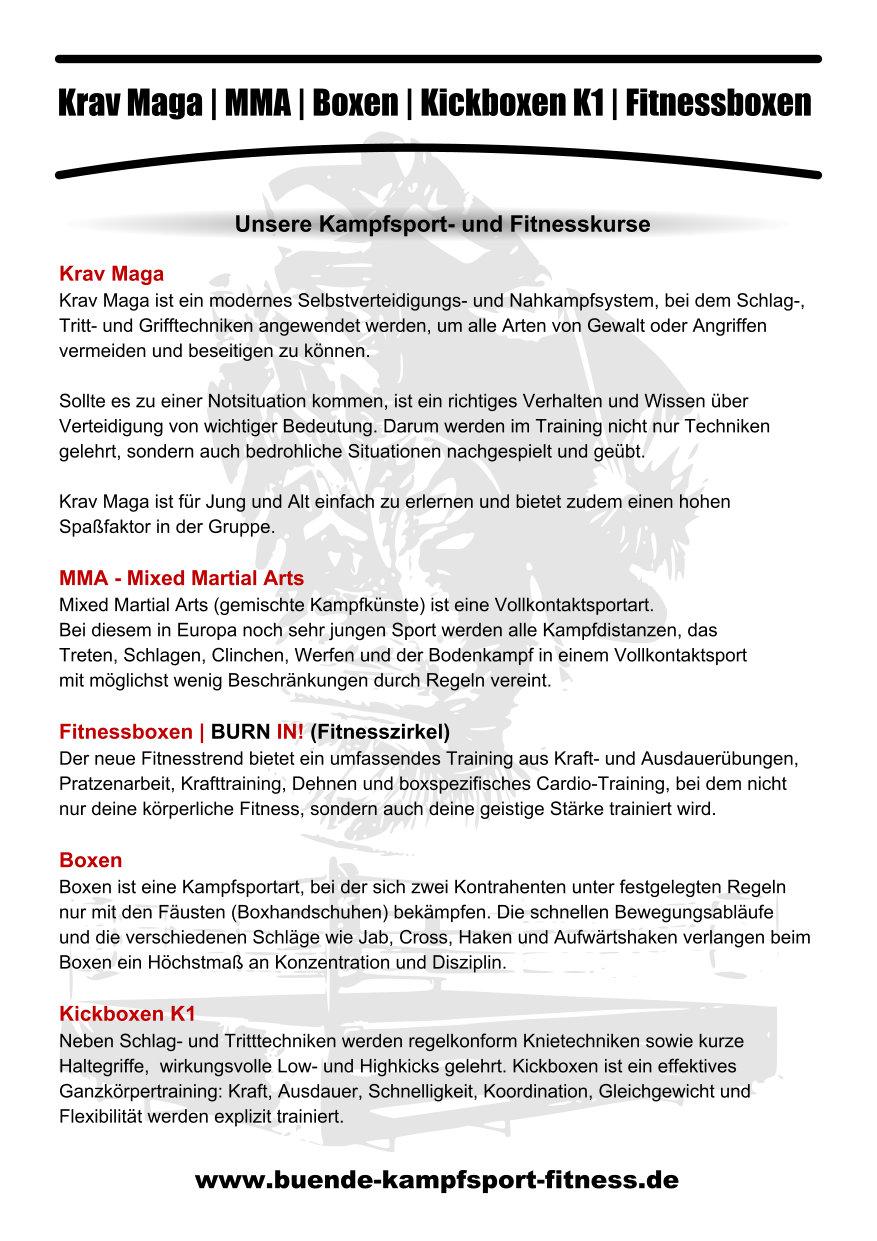 Fitness- und Kampfsportkurse BKF